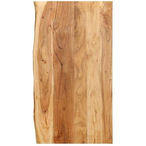 Bathroom Vanity Top Solid Acacia Wood 100x55x2.5 cm