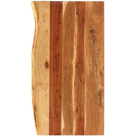 Bathroom Vanity Top Solid Acacia Wood 100x55x3.8 cm