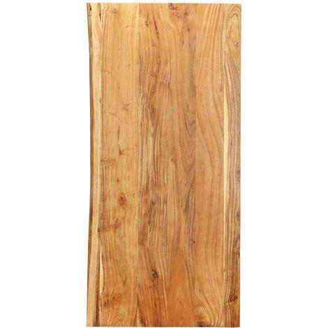 Bathroom Vanity Top Solid Acacia Wood 120x55x2.5 cm