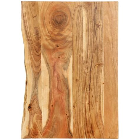 Bathroom Vanity Top Solid Acacia Wood 80x55x2.5 cm