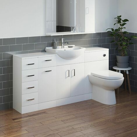 Bathroom Vanity Unit Drawer Cabinet Laundry Storage Toilet Furniture Basin Sink