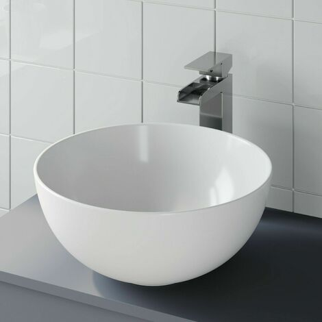 Bathroom Vanity Wash Basin Sink Countertop Circular Curved Modern 360 x 360mm