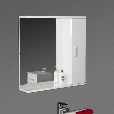 Bathroom Wall Hung Mirror Cabinet Storage Furniture Unit