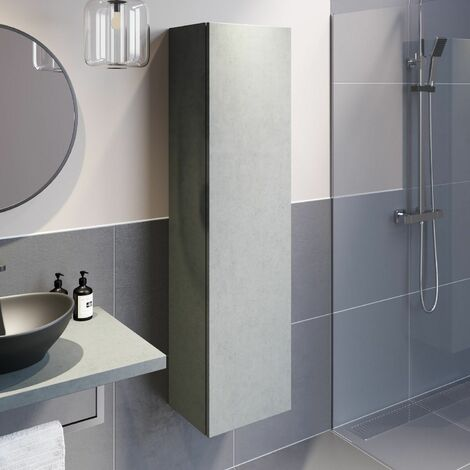 """main image of """"Bathroom Wall Hung Mounted Tall Cabinet Cupboard Storage Furniture Unit Concrete"""""""