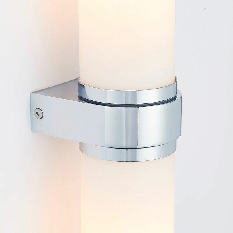 Image of 04-endon - Bathroom wall lamp Tal Steel E14
