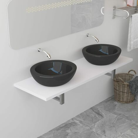 Bathroom Wall Shelf for Basin White 160x40x16.3 cm