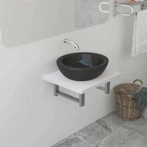 Bathroom Wall Shelf for Basin White 40x40x16.3 cm