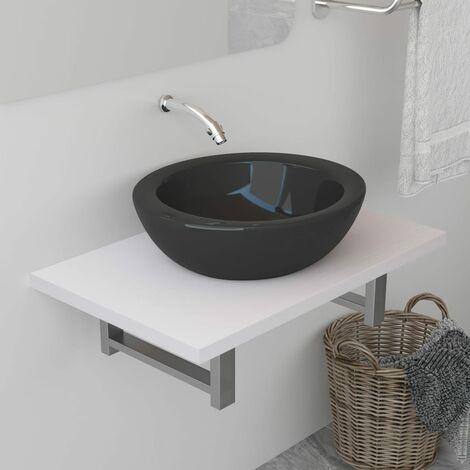 Bathroom Wall Shelf for Basin White 60x40x16.3 cm