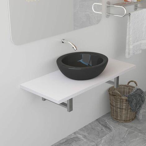 Bathroom Wall Shelf for Basin White 90x40x16.3 cm