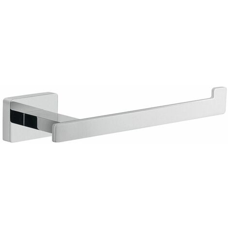 Bathroom WC Open Toilet Roll Holder Square Wall Mounted Stylish Modern