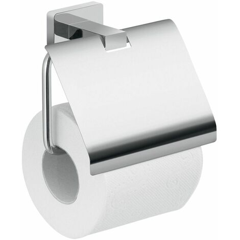 Bathroom WC Toilet Roll Holder Cover Square Wall Mounted Stylish Modern