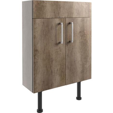 Bathrooms to Love Alba Slim Vanity Unit 600mm Grey Nebraska Oak