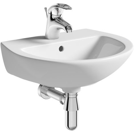 Bathrooms to Love Naples 1TH Basin & Bottle Trap 385 x 450 x 195mm White