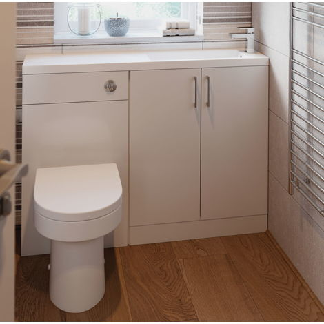Bathrooms to Love Volta Toilet and Basin Space Saving Pack in White