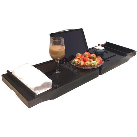 Bathtub tray + non-slip silicone strip black