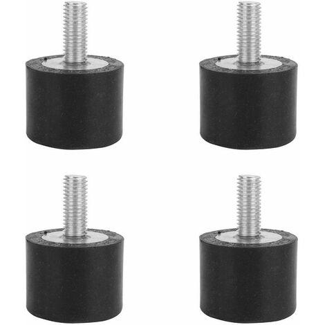 Bâti en caoutchouc anti-vibration, 4PCS en caoutchouc anti-vibrations, bâti en caoutchouc, montage de la canette, isolateur, amortisseur de vibrations(VE40*30 M10*25)