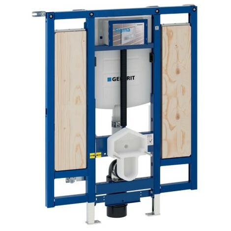 Bâti-support Duofix WC suspendu, 112 cm, adapté PMR avec WC hauteur réglable pour barres de relevage - Geberit