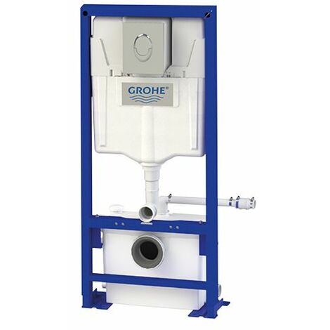 Broyeur + Bâti-support WC Grohe + habillage verre SANIWALL Pro UP