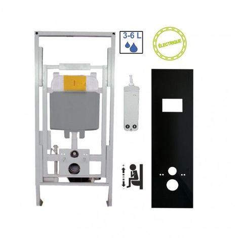 Bâti-support PMR à commande électrique, fixation au sol et au mur