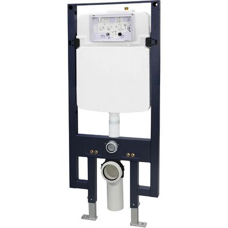 Bâti-support pour WC suspendu G3008 avec plaque de déclenchement - modèle sélectionnable