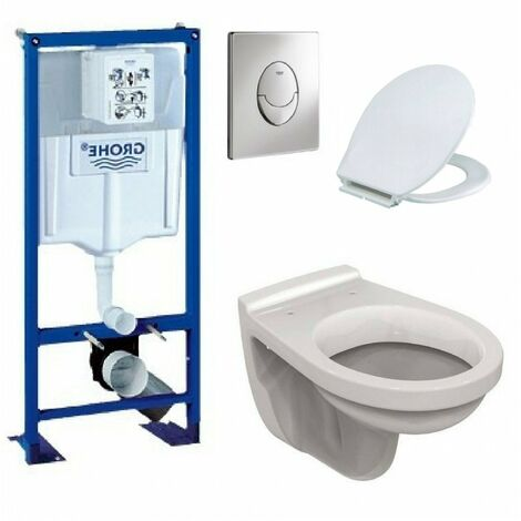 Bati support ulysse wc suspendu grohe plaque grise