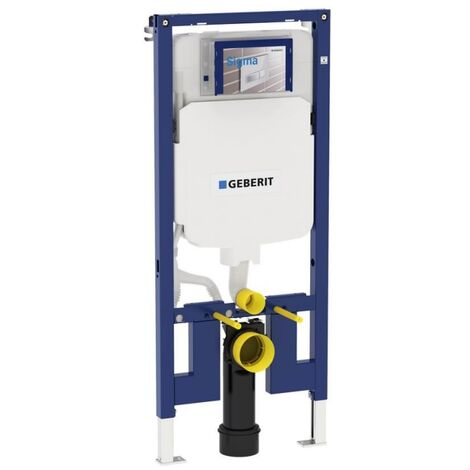 Bâti-support WC Geberit Sigma 8cm Extra-plat compact en applique (UP720) 111.796.00.1 Geberit