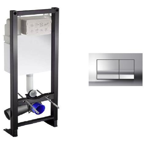 Bati-support wc Jacob Delafon autoportant + plaque chromée