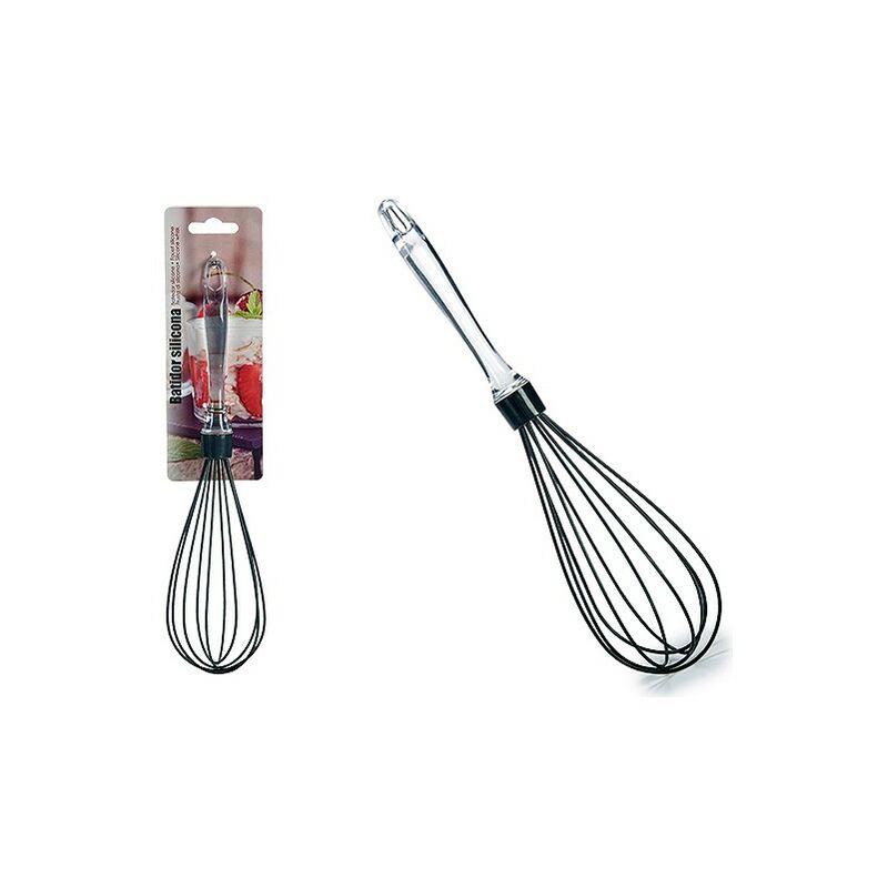 Batidor De Varillas Manual Silicona Transparente 6,5 X 30 X 6,5 Cm