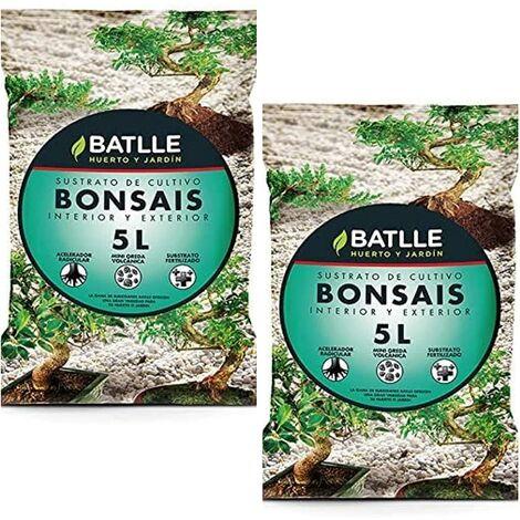Batlle 10L Semillas 960056BUNID - Terreau pour bonsaïs 2X 5 l