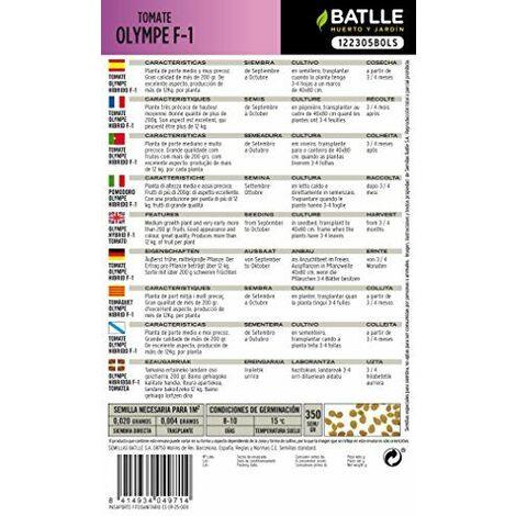 BATLLE-GRAINES DE TOMATE F1 OLYMPE HYBRIDE F-1