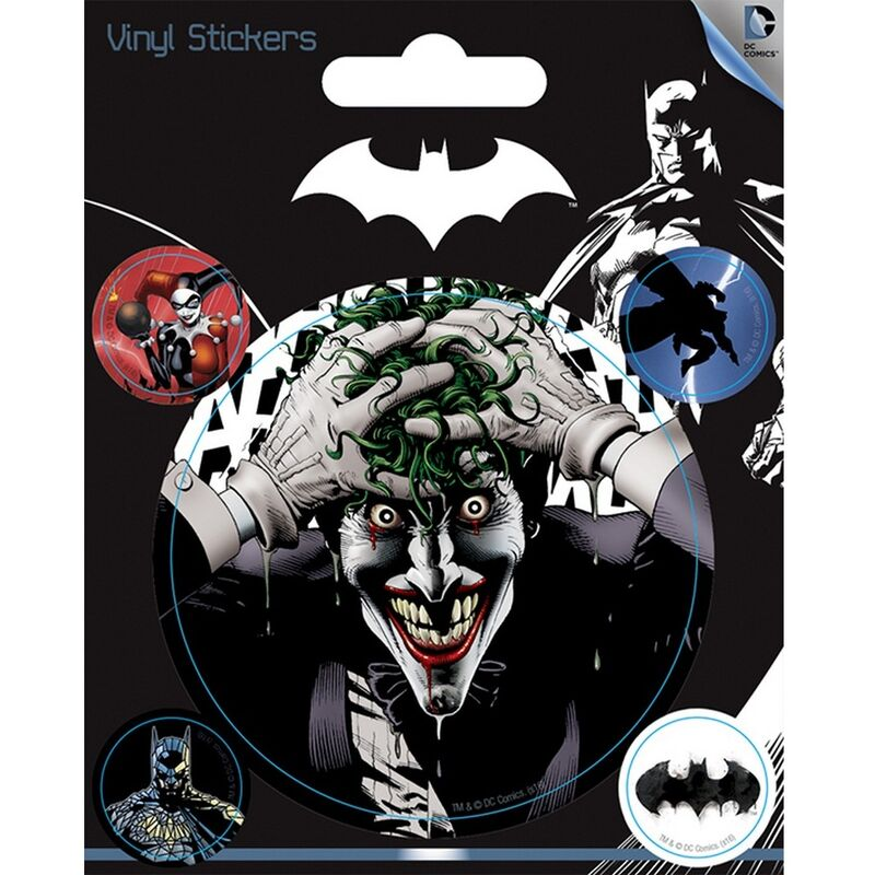 Image of Vinyl Character Stickers (Pack Of 5) (One Size) (Black) - Batman