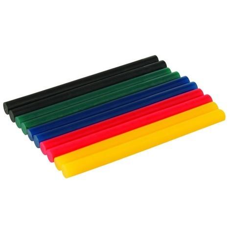 Bâtonnets de colle colorée, 7,2 x 100 mm 10 pcs
