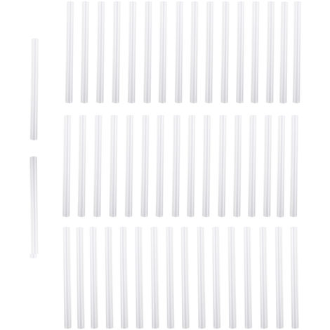Batons De Colle Thermofusible, Longueur 10 Cm, Diametre 0,7 Cm, 50 Pieces