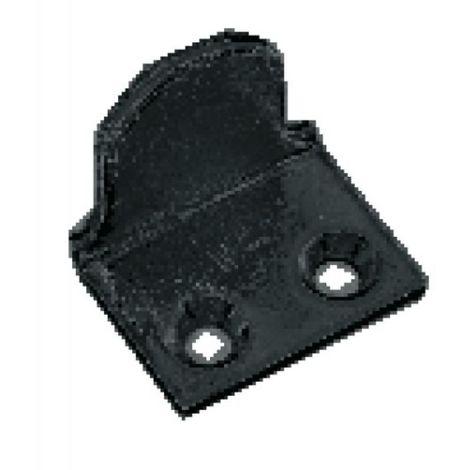 Battements hauts à visser de persienne acier zingué noir - coudés boîte de 10