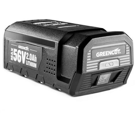 Batteria al litio da 2.0 per strumenti da giardino sistema GREENCUT 56V MAX