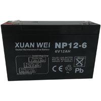 Batteria ermetica a piombo ricaricabile NP12-6 ricambio ricaricabile 6V 12AH