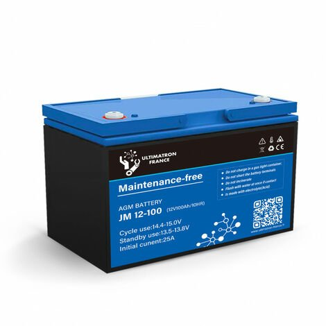 """main image of """"Batterie 100ah 12v Agm décharge Lente-Ultimatron"""""""