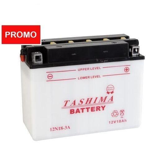 Batterie 12N18-3A TASHIMA LIVRÉE AVEC ÉLECTROLYTE