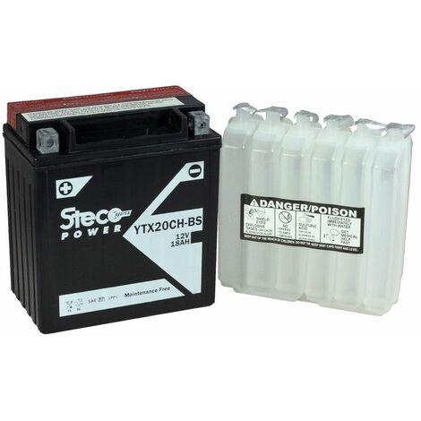 Batterie 12V (10h) 18Ah 270A 150x87x161 Gamme Batterie Sans Entretien STECOPOWER - YTX20CH-BS - -