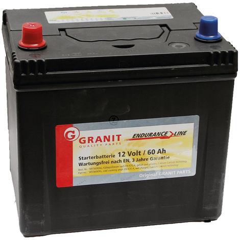 Batterie 12V 60Ah, 470A remplie