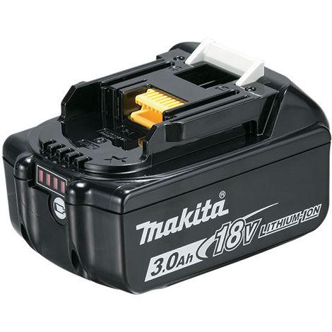 "main image of ""Batterie 18V Li-Ion 3Ah BL1830B MAKITA témoin charge - 197599-5"""