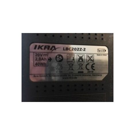 """main image of """"batterie 20 volts 2.0 Amp"""""""