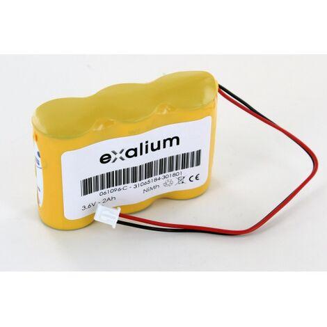 Batterie 3.6V 2 NiMH type 3HRMT 23/43 pour BAES Legrand 061096 ECO 2