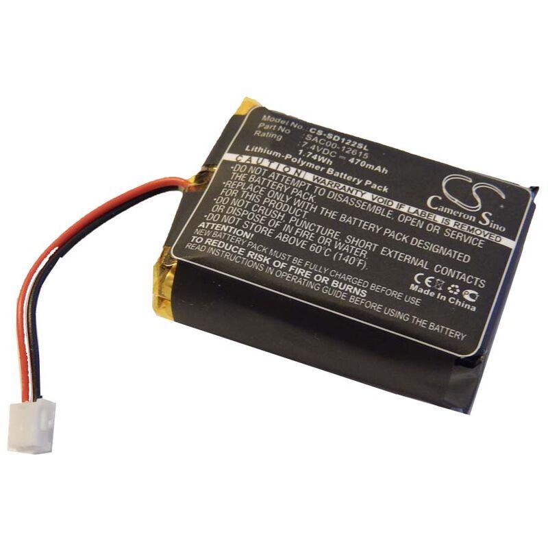 Batterie 470mAh (7.4V) pour transmetteur Sportdog SD-1225 comme SAC00-12615. - Vhbw