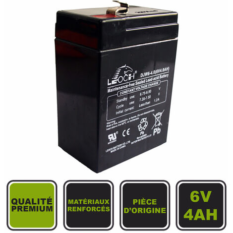 Batterie 6V4Ah Cristom® pour voiture électrique