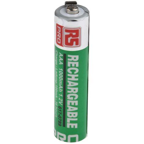 Batterie AAA rechargeable 1000mAh RS PRO sortie Cosses
