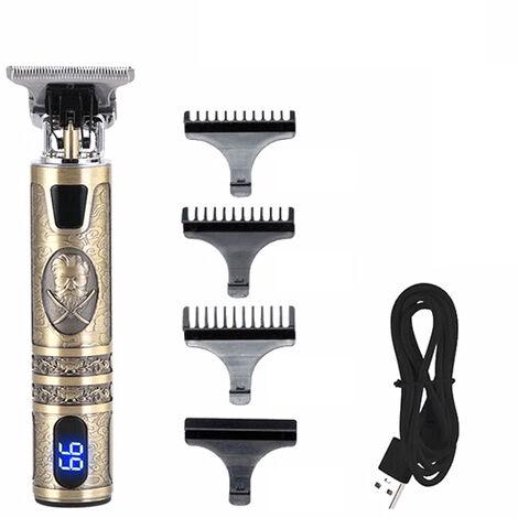 Batterie Affichage Coupe-Cheveux Professionnel USB Tondeuse ¨¤ Cheveux Hommes Rechargeable ¨¦lectrique Puissant Coupe De Cheveux Machine Sculpture Cheveux Outil