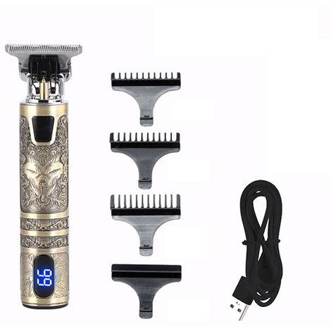Batterie Affichage Cutter Cheveux Professionnel Usb Tondeuse Electrique Rechargeable Puissante Machine