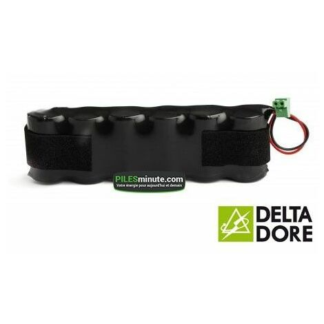 "main image of ""Batterie Alarme TALCO / DELTA DORE - 6LR20 Alcaline - 9V - 18Ah + Connecteur"""