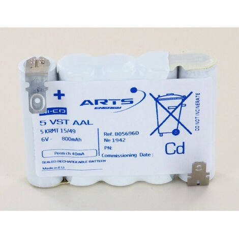 Batterie Arts 6V 800mAh 5 VST AAL 805696